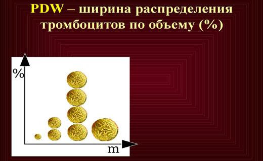 распределение тромбоцитов по объему