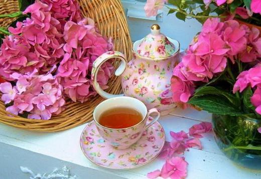 Чай с гортензией