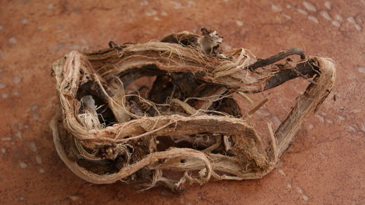 Высушенный корень красного корня