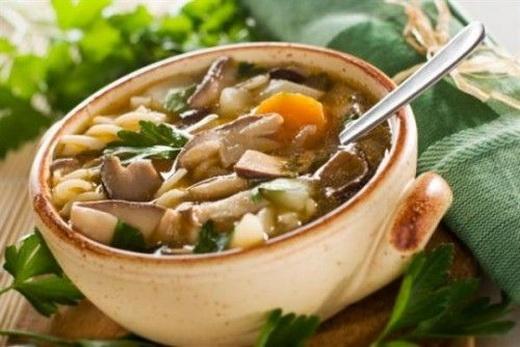 Грибной суп с маслятами