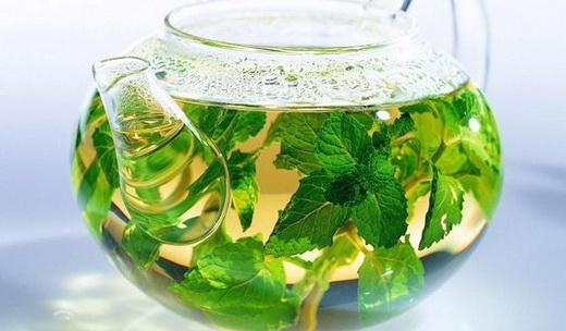 Мятный зеленый чай